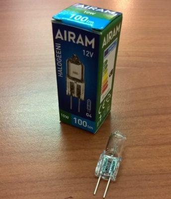 G4 HALOGEENI AIRAM 10 W-0
